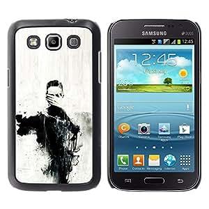 iKiki Tech / Estuche rígido - Eyes Art Painting Hand Coal - Samsung Galaxy Win I8550 I8552 Grand Quattro