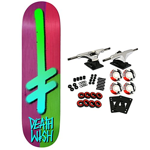 Deathwish Skateboard Complete Gang Logo Color Block 8.25″