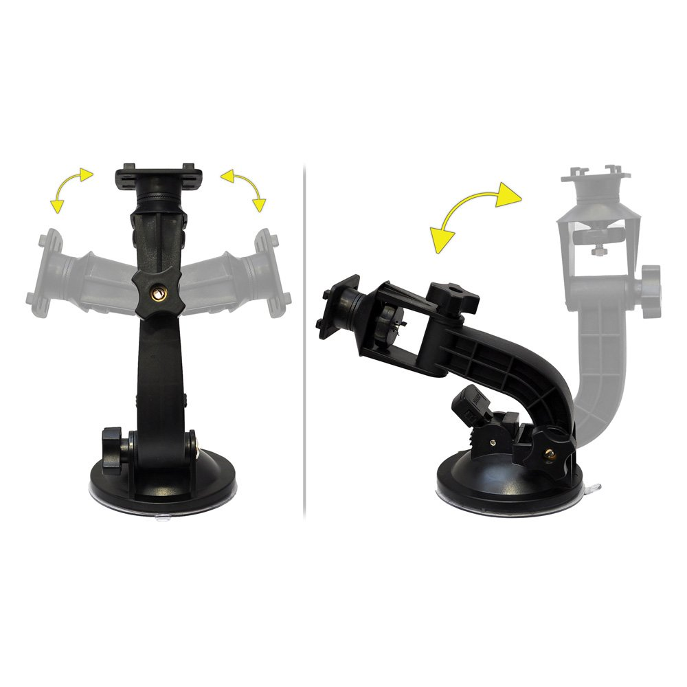 ATV w// Suction Cup Mounting Arm Works on iPhone Pyle PSIC55 Dashboard Cell Phone Case Mount For Car Windshield Bike Handlebar Bicycle Universal Waterproof Motorcycle Phone Holder Android