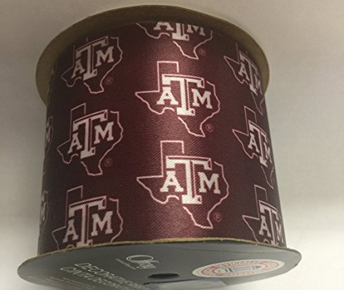 "Offray Texas A&M University Aggies Fabric, 2-1/2"" X 9FT Ribbon"