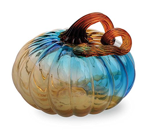 Boston International Gallery Glass Pumpkin Collectible Figurine, 4