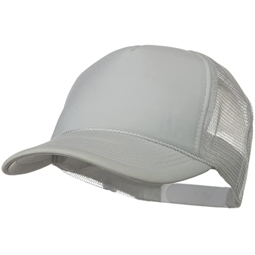 135a53a2238 Otto Caps Solid Polyester 5 Panel Foam Front Mesh Back Cap - White ...