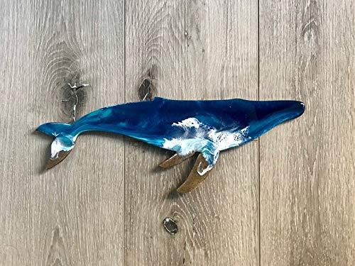 Beach Art Resin Whale Wall Decor