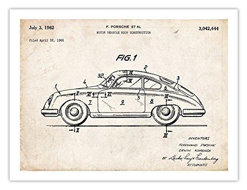 (Porsche 356 18x24 Poster)