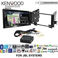 Volunteer Audio Kenwood DNX574S Double Din Radio Install Kit with GPS Navigation Apple CarPlay Android Auto Fits 2003-2009 Toyota 4Runner with Amplified System
