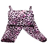 MonkeyJack Trendy Leopard Print Tops Pants Clothes for 18'' American Girl Our Generation Doll