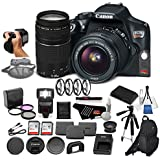Canon EOS Rebel T6 Digital SLR Camera Bundle with EF-S 18-55mm f/3.5-5.6 IS II Lens + EF 75-300mm f/4-5.6 III Telephoto Zoom Lens + 64GB Memory Card