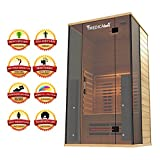 Cheap Medical 4 Full Spectrum Home Sauna – 2 Person Home Sauna 47 x 42 x 78 Chromatic Therapy Speakers AUX 7 Full Spectrum & 14 Cell Carbon Heaters