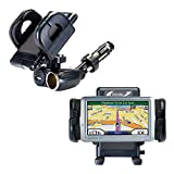 Unique Auto Cigarette Lighter and USB Charger Mounting System Includes Adjustable Holder for the Garmin Nuvi 770