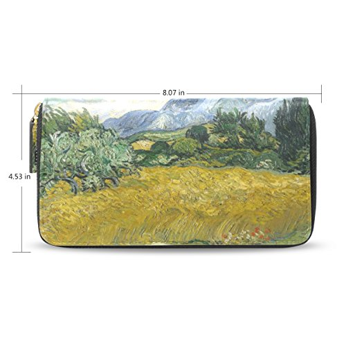 womens-wheat-field-with-cypresses-pattern-leather-long-wallet-purse-case-card-holder