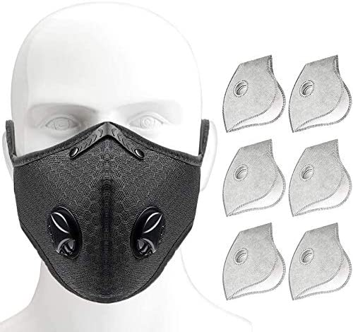 Face Covering Protection Breathable Washable Reusable Black Adult Mouth Nose