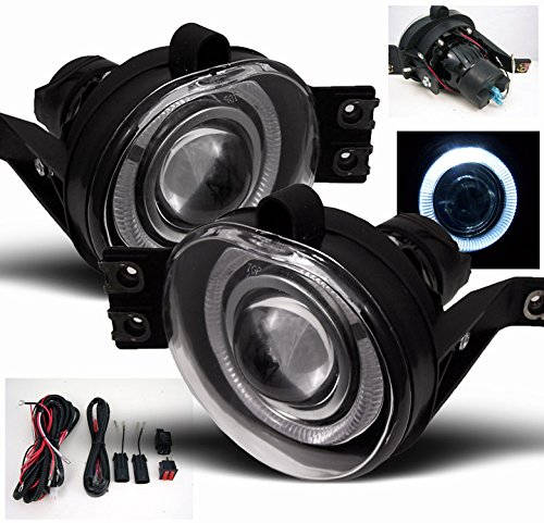 ZMAUTOPARTS Dodge Ram Halo Projector Bumper Clear Fog Light Lamp+Harness