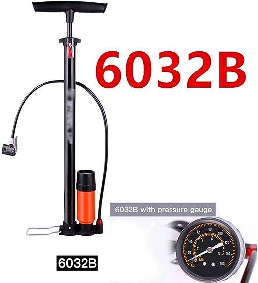 Lamp love Rueda Arriba Mini Bomba portátil de Alta presión de la Bomba 120PSI Bicicleta de Mano Bomba de Acero Accesorios de Bicicleta Cilindro Bomba de Baloncesto (Color : B): Amazon.es: Hogar