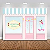 ice cream backdrop - Mehofoto Ice Cream Parlor Shop Backdrop Pink Blue Kid Child Birthday Photography Background 7x5ft Vinyl Ice Cream Themed Birthday Party Banner Event Supplies