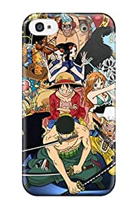 Premium [WLdGvHz1094MTuQc]one Piece Luffy And Crew Pirates Case For Iphone 4/4s- Eco-friendly Packaging
