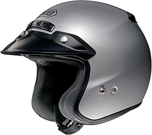 Shoei RJ Platinum R Light Silver Open Face Helmet - Large