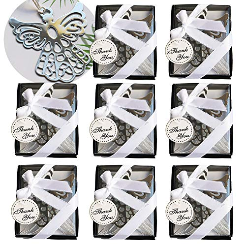 - RJWKAZ Pack of 8 Gift Boxed Silver Cross Bookmarks, Bookmark Favors, Book Lovers, Wedding Favors and Gifts (Eagle Bookmark)
