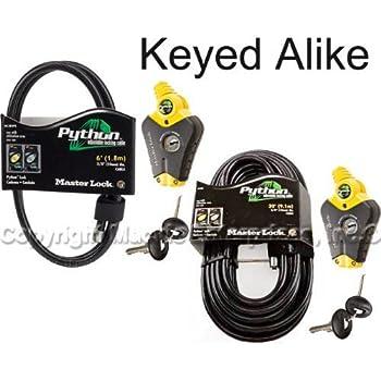 Master Lock - Python Adjustable Cable Locks #8413KA2-6-30 delicate