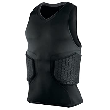 crysle Hombres/Niños Camiseta Deportiva de acolchado de impacto/compresión protección hombro Rib pecho