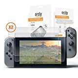 Screen Protector Nintendo Switch - Orzly Premium Tempered Glass Screen Protector TWIN Pack [2 x Screen Guards] for 6.2 Inch Tablet Screen on Nintendo Switch Console