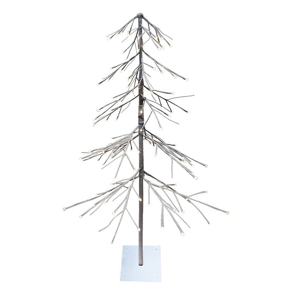 Lightshare Lighted Snow Fir Tree, Medium