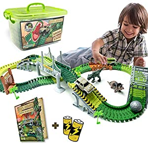 Dinosaur Toys Track For Boys and Girls - STEM Toys Activities for Kids