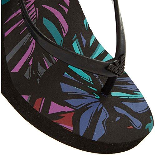 Material Armani Negro Emporio de Sintético Mujer Sandalias Negro para wtq8qS