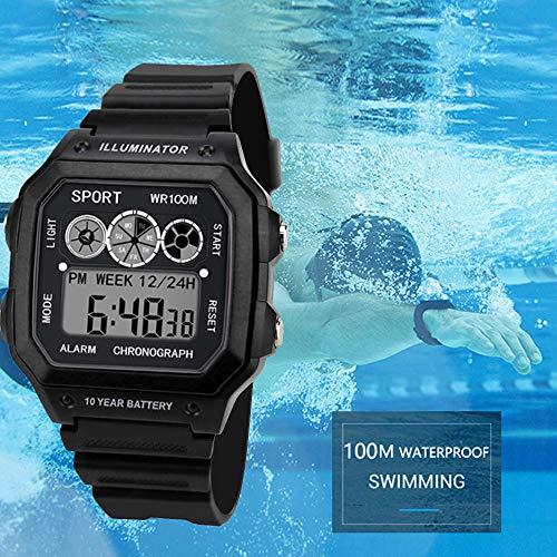 ZODOF Reloj de Hombre, Susenstone Moda Hombres LED táctil Pantalla día Fecha Silicona Pulsera Reloj Digital LED Reloj Touch: Amazon.es: Ropa y accesorios