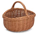 Wicker Oval Shopping Basket with Handle