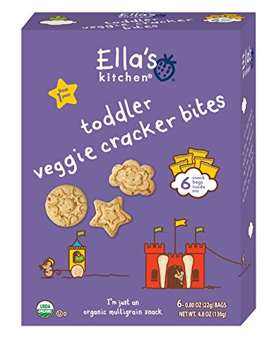 Ella's Kitchen Organic Toddler Cracker Bites - Veggie - 6 ct
