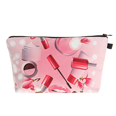 db586a103a Eleusine Cosmetic Bags Makeup Case 3D Printing Women Travel Cosmetic  Organizer Bag