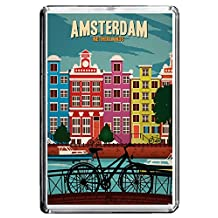 B006 AMSTERDAM FRIDGE MAGNET NETHERLANDS VINTAGE TRAVEL PHOTO REFRIGERATOR MAGNET