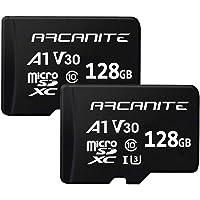 ARCANITE - Paquete de 2 tarjetas de memoria microSDXC de 128GB, UHS-I U3, A1, V30, 4K, Clase 10, MicroSD - AK2PV30A1128