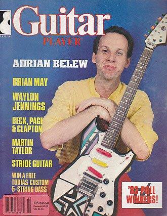 (Guitar Player Rock Magazine January 1984 Adrian Belew Queen Brian may Waylon Jennings Jeff Beck Eric Clapton Jimmy Page Martin Taylor (Guitar Player Magazine))