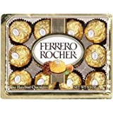 FERRERO ROCHER ITALIAN CHOCOLATE HAZELNUT CANDY 12 PC BOX
