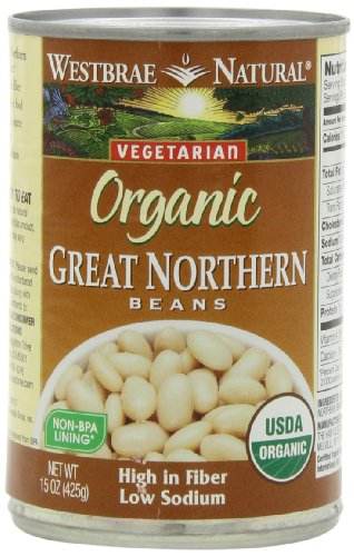Canned Navy Beans (Westbrae Natural Organic Great Northern Beans, 15 Ounce Cans (Pack of 12))