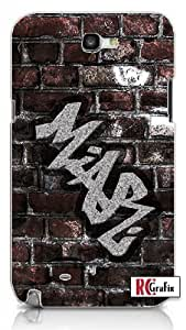 Personalized Custom DIY Name Graffiti Cool Brick Wall Texture Quality Hard Snap On For SamSung Galaxy S5 Case Cover (WHITE)