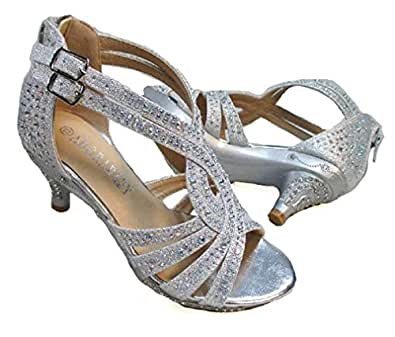 Amazon.com: Adorababy Girls Dress Shoes Rhinestone Pageant