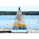 Orgonite Orgone Pyramid - Energy Generator - SUCCESS LUCK - Crystal Gemstone - Citrine Lapis Lazuli Quartz - LARGE & POWERFULL! Add Yours to Cart Now!