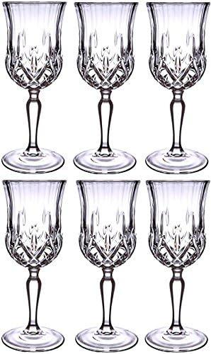 6 X Opéra Maison italien 23 cl Verres à vin en verre (Cristal Luxion Superbe Coffret cadeau)