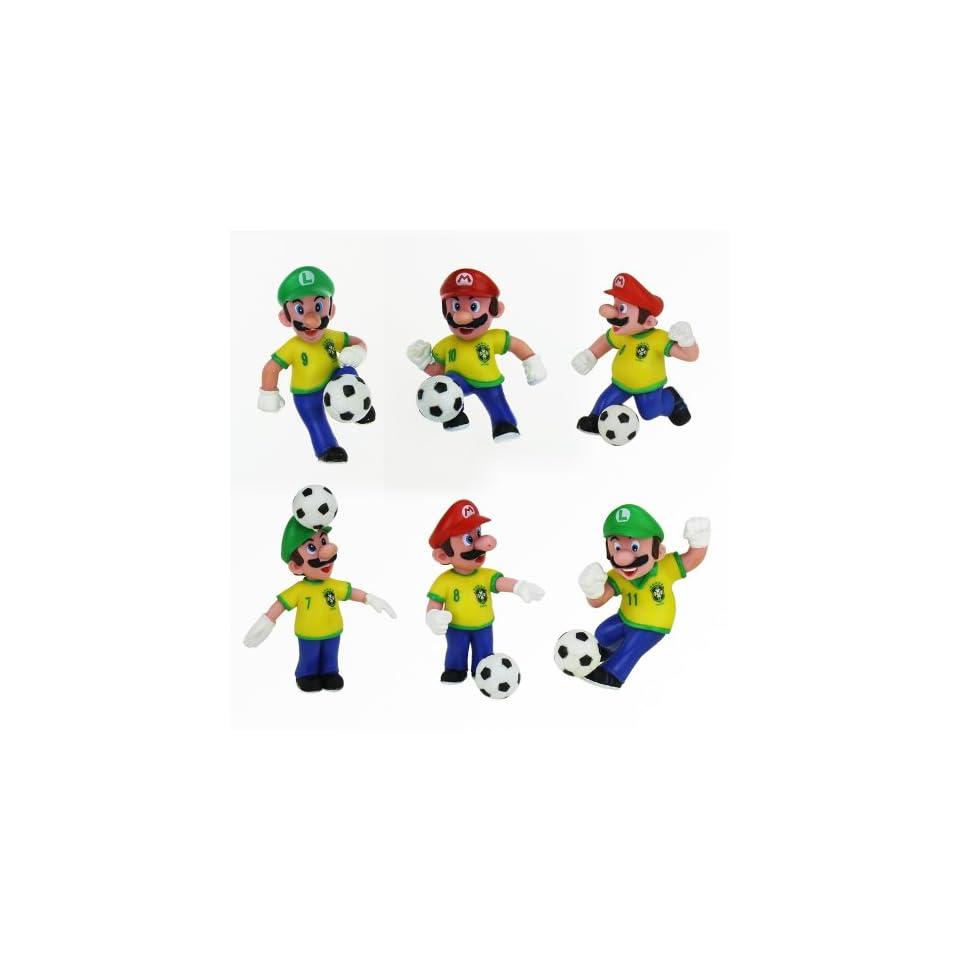 Nintendo Super Mario Bros Brazil Soccer Action Figures Toys & Games