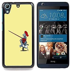 Funny Toy Horse Knight Caja protectora de pl??stico duro Dise?¡Àado King Case For HTC Desire 626 & 626s