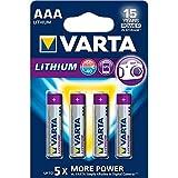 Varta Professional Lithium - 4 pilas de Litio, 1.5 V,tamaño AAA, 1100 mAh