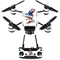 Skin for DJI Spark Mini Drone Combo - American Eagle| MightySkins Protective, Durable, and Unique Vinyl Decal wrap cover | Easy To Apply, Remove, and Change Styles | Made in the USA