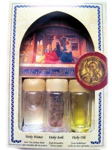 Agua bendita 3 en 1 (agua, aceite y suelo) bendición colección caja de