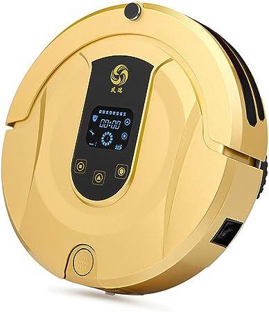 Robot Aspirador Inteligente silencioso, Robot de Moda con Tanque de Agua Barrido Robot autocarga Sensor de caída para Mascotas Pelo Duro Suelos: Amazon.es: Hogar
