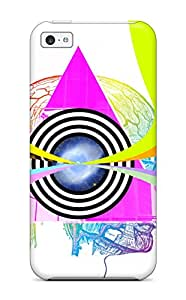 [gnGvjom14541CdUMd]premium Phone Case For Iphone 5c/ Triangles And Brains Tpu Case Cover
