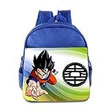 Render Dragon Ball Z Goku Children School RoyalBlue Backpack Bag