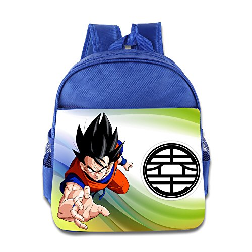 (Render Dragon Ball Z Goku Children School RoyalBlue Backpack Bag)