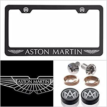 Amazon.com: Ajuste Aston Martin con grabado láser marco de ...